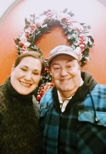 Jessica Ann Walsh and dad - renewed relationships - 2017 year end reflection