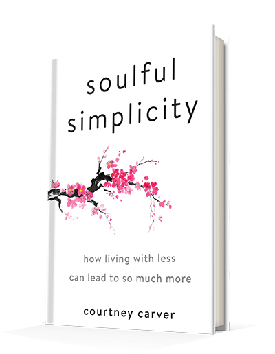 A book review of Courtney Carver's new book Soulful Simplicity: How Living With Less Can Lead to So Much More. #minimalism