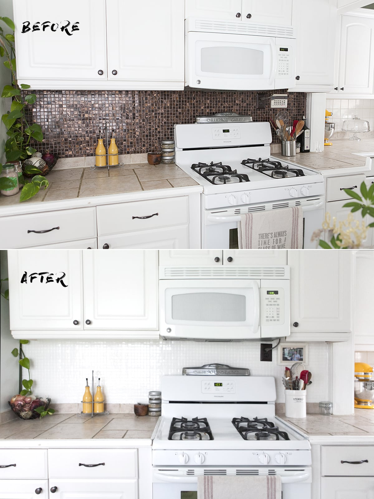 How To Paint A Tile Backsplash » Jessica Brigham
