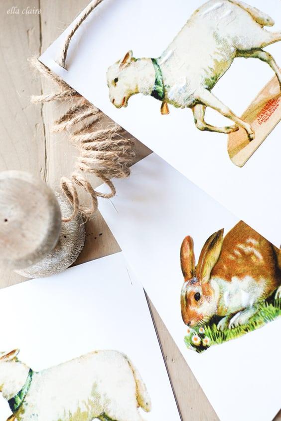 Easy DIY Easter Decorations   Lamb & Bunny Printable Banner   Ella Claire