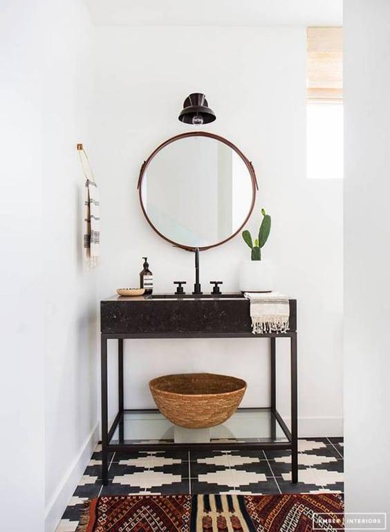 One Room Challenge Modern Boho Bathroom Week Five Jessica Brigham