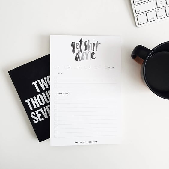 The To Do List | Best Notepads to Stay Organized | Weekly Planner | Studio9Co | Jessica Brigham Blog