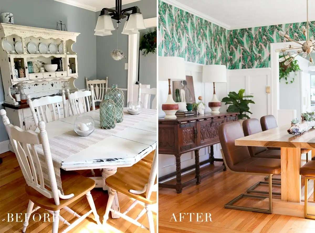 Modern Vintage Dining Room Reveal | Dining Room Design | Dining Room Decor | Mid Century Modern Homes | Home Design | Jessica Brigham Blog | Magazine Ready for Life for Less