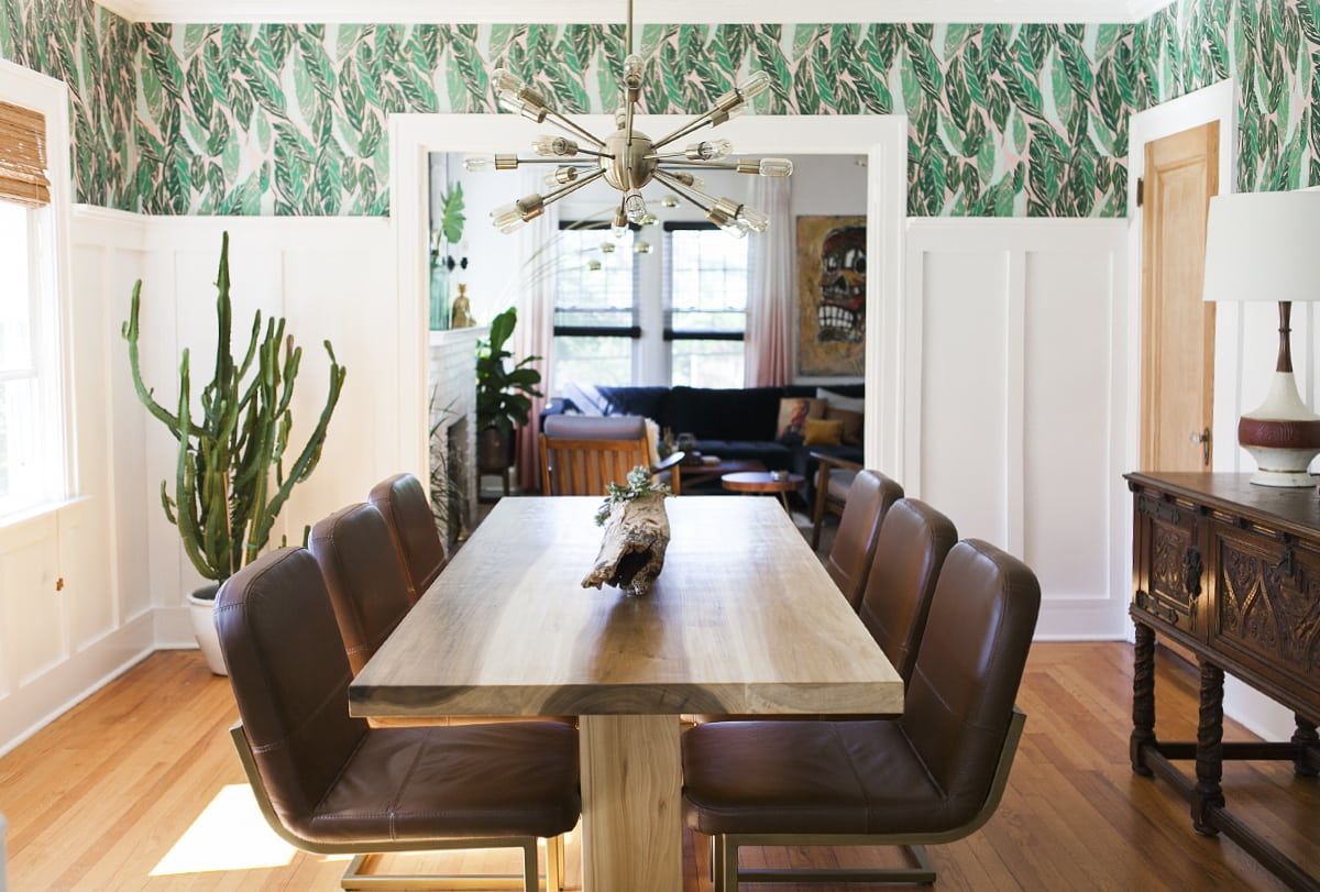 Before after modern vintage dining room reveal for Dining room decor modern