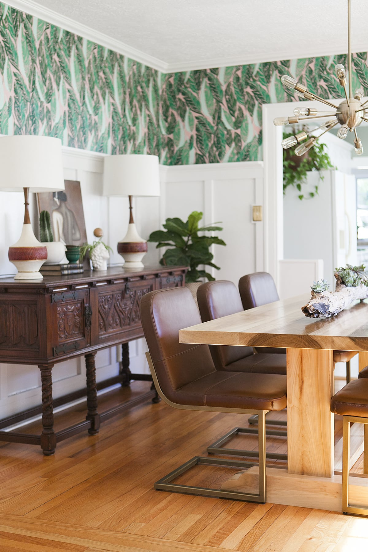 Before  After Modern Vintage Dining Room Reveal