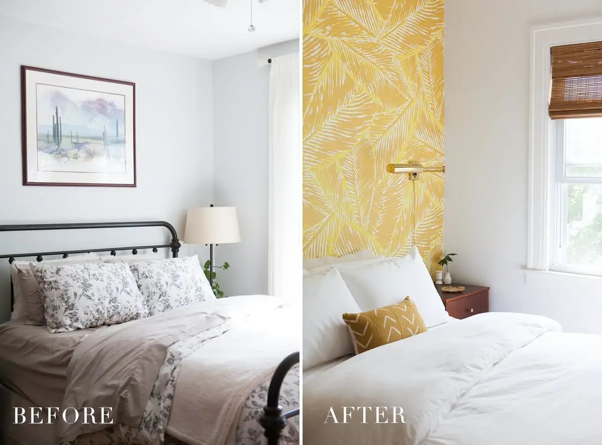Boho Glam Master Bedroom | Small Bedroom Design | Bohemian Style | Before & After | Jessica Brigham | Magazine Ready for Life