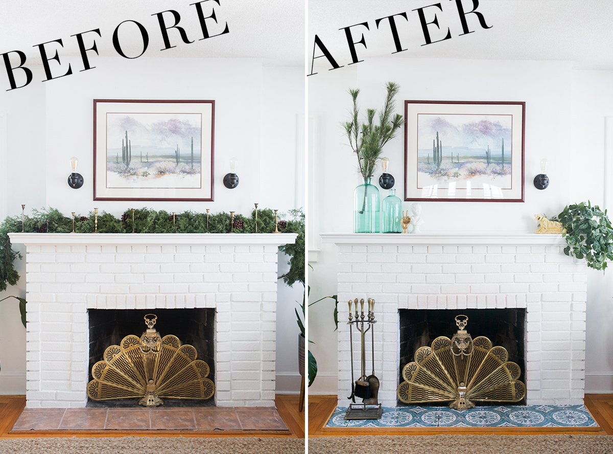 This quick and easy diy fireplace makeover will blow your mind. And the best part about it? It only cost a total of $55. YEP