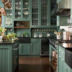 Green Kitchen Cabinets Islands That Look Like Furniture The Best Dark Kitchens Ever Jessica Brigham Hunter Magazine Ready For Life Modern