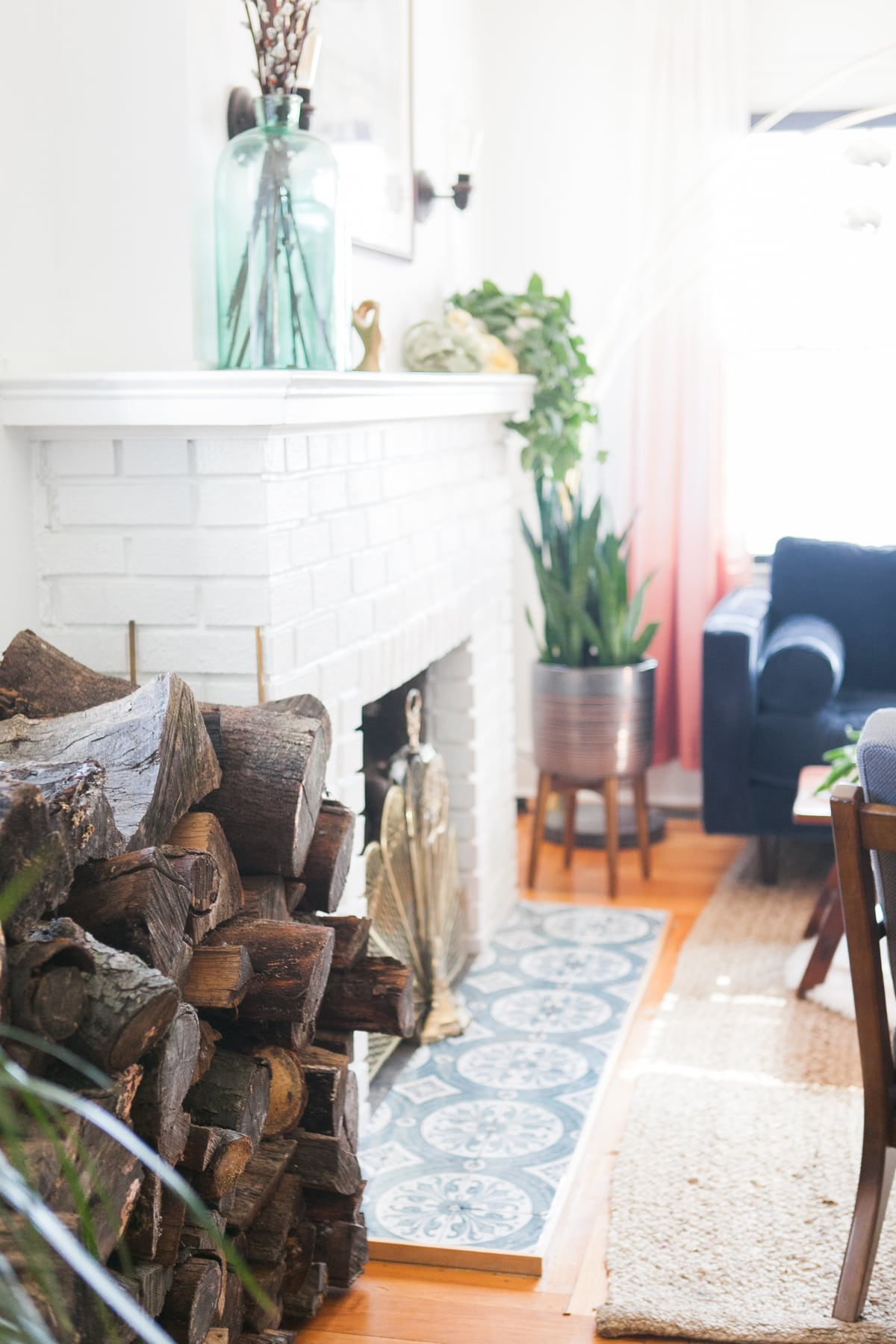 living room firewood holder christmas decorations for a small diy rack jessica brigham log magazine ready life