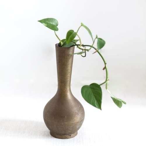 vintage brass vase | india made | jessica brigham