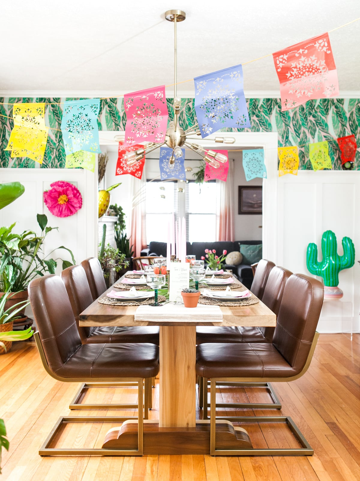 photo about Papel Picado Printable known as Fiesta Season! A Colourful Cinco de Mayo Supper Celebration + Cost-free
