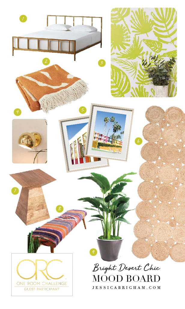Bright Desert Chic Guest Room Ideas | One Room Challenge Spring 2018 | Jessica Brigham | Magazine Ready for Life