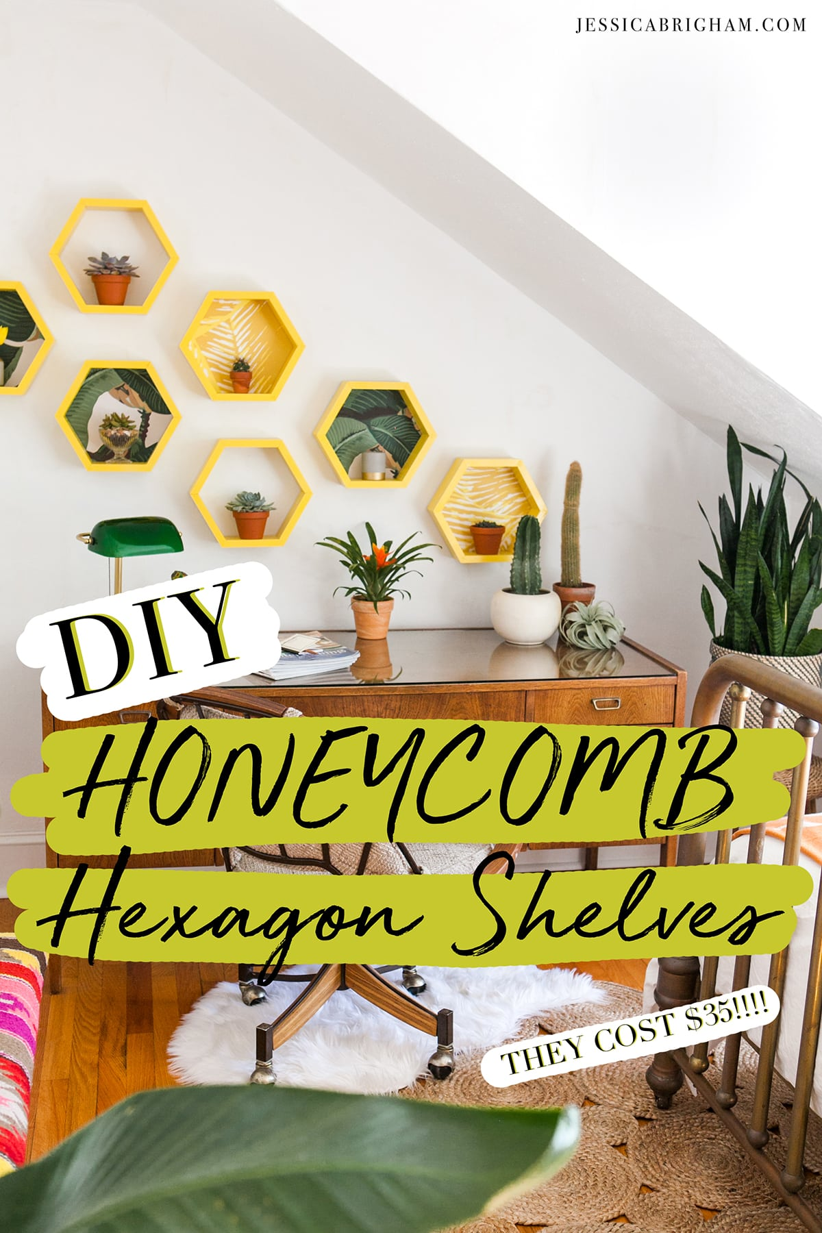 DIY Honeycomb Hexagon Shelves   How to Build Shelves   Jessica Brigham   Magazine Ready for Life