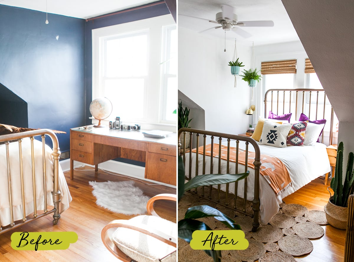 Bright Desert Chic Guest Room | One Room Challenge | Before & After | Jessica Brigham | Magazine Ready for Life