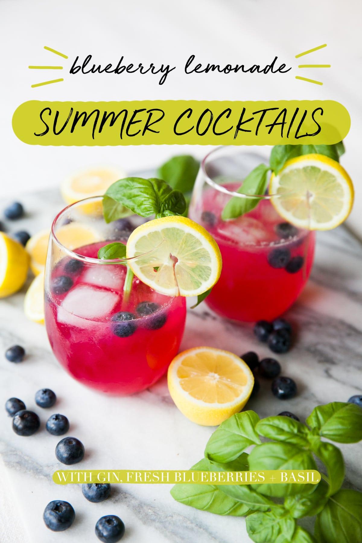 Gin Cocktails | Blueberry Lemonade | Cocktail Recipes | Homemade Hard Lemonade | Jessica Brigham | Magazine Ready for Life
