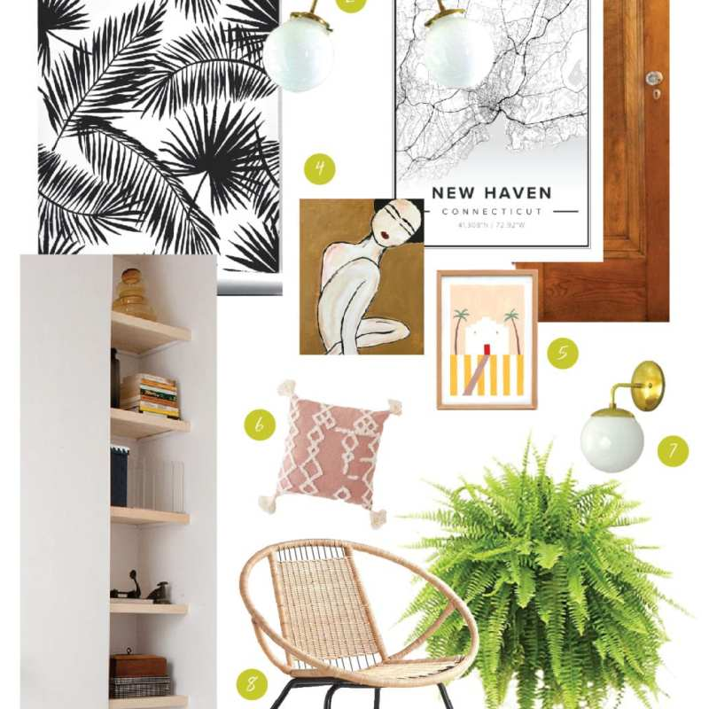 One Room Challenge | Boho Mod Glam Entryway | Week One | Jessica Brigham | Magazine Ready for Life