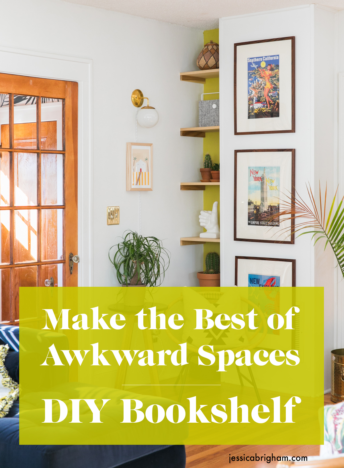 Make the Best of Awkward Spaces with this DIY Bookshelf | How to Build a Bookcase | Jessica Brigham | Magazine Ready for Life