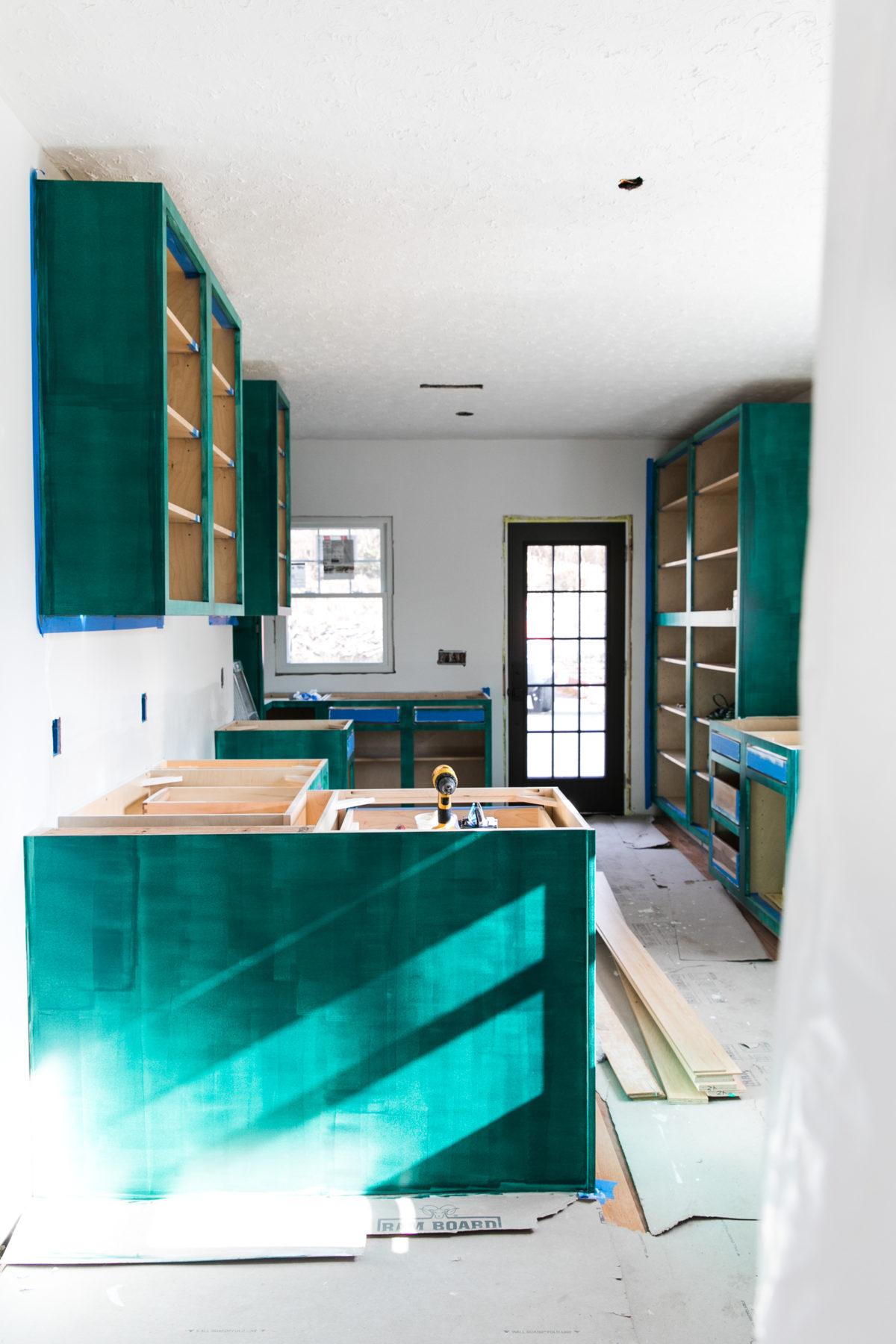 One Room Challenge | Green Kitchen Glamazon | Kitchen Mood Board | Open Kitchen Design | Kitchen Renovation | Jessica Brigham | Magazine Ready for Life | www.jessicabrigham.com