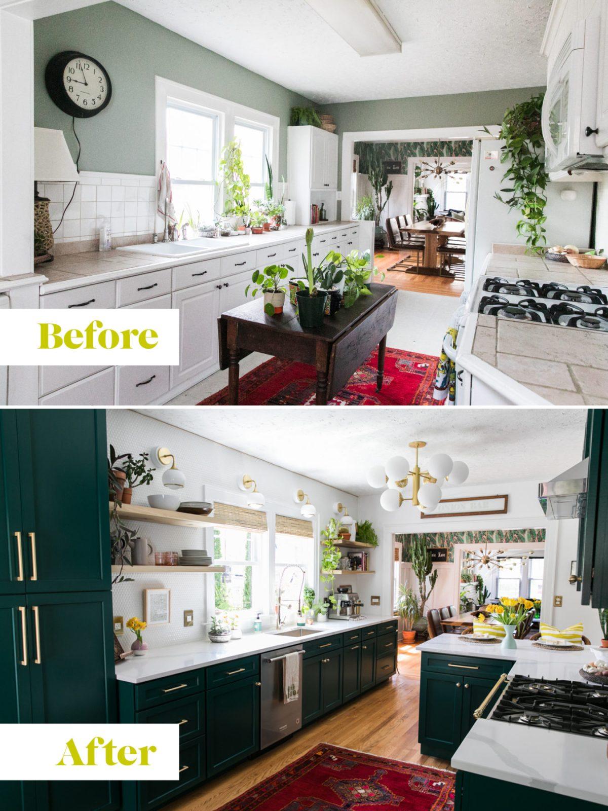 One Room Challenge | Dark Green Kitchen Glamazon | Kitchen Mood Board | Open Kitchen Design | Kitchen Renovation | Jessica Brigham | Magazine Ready for Life | www.jessicabrigham.com