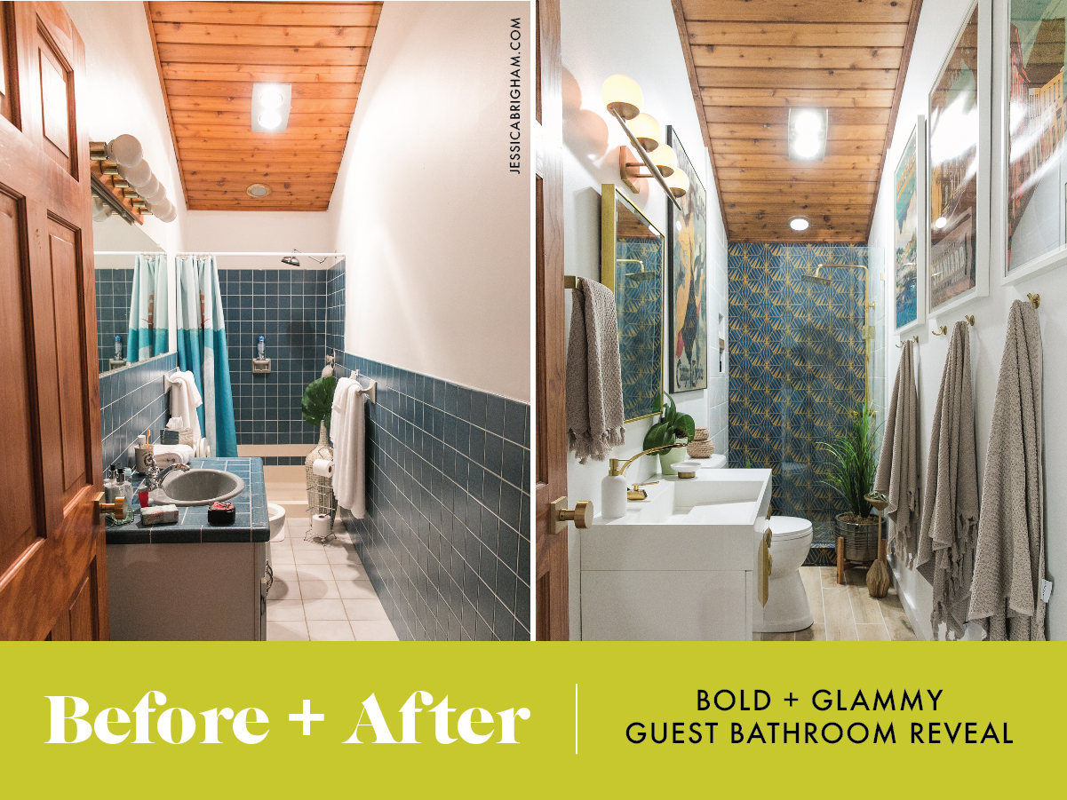 Bold + Glammy Guest Bathroom REVEAL | Bathroom Renovation | Bath Remodel | Jessica Brigham | Magazine Ready for Life | jessicabrigham.com