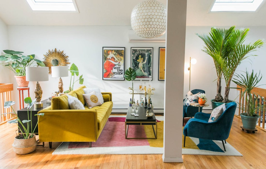 Vibrant Mid-Century Glam Living Room Refresh – THE REVEAL