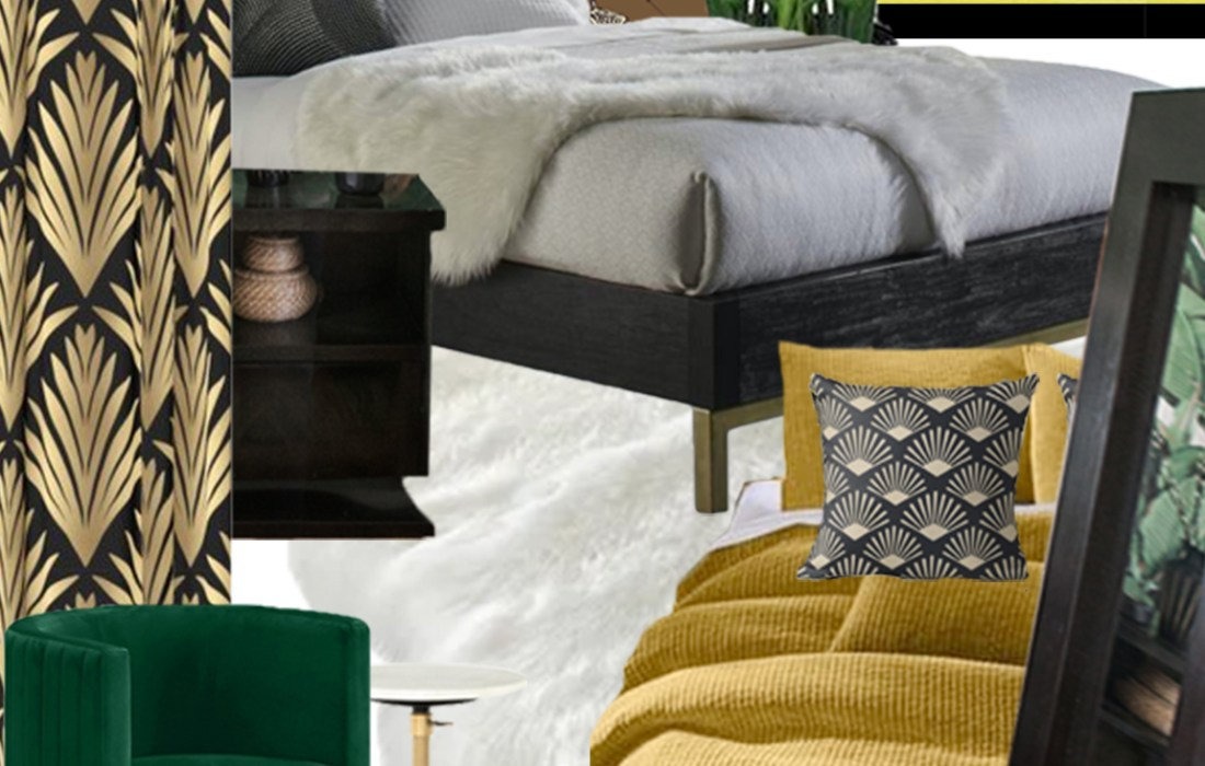 Hollywood Regency Glam Guest Room – The Design Board