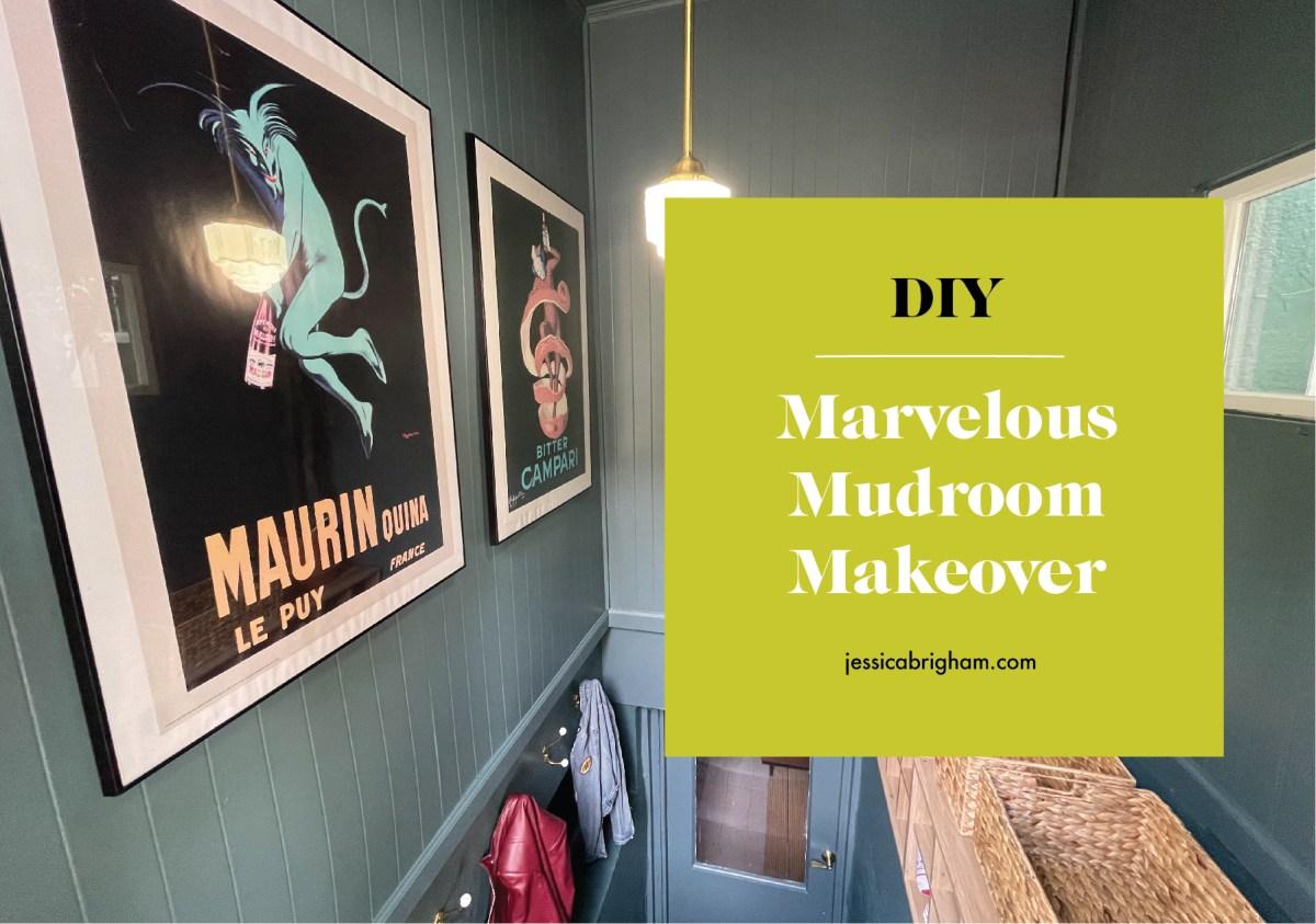 DIY | Marvelous Mudroom Makeover | Mudroom Design Ideas | Home Improvement | DRYLOK x Jessica Brigham | JessicaBrigham.com