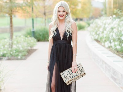 Glamorous Holiday Dresses + The Perfect Red Lipstick