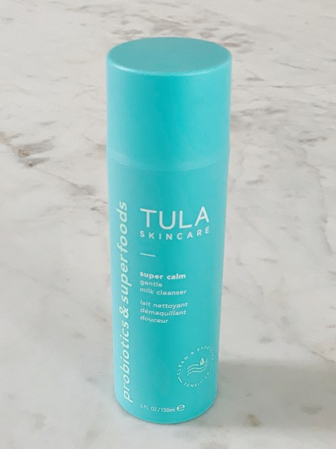 Tula Skincare by popular Houston beauty blogger, Jessica Crum: image of Tula Super Calm Gentle Milk Cleanser.