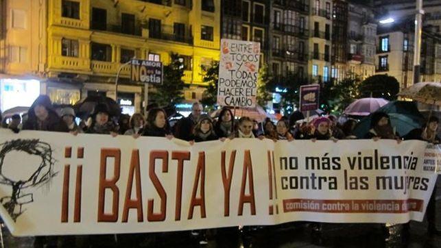 Manifestación en Santander contra la violencia de género