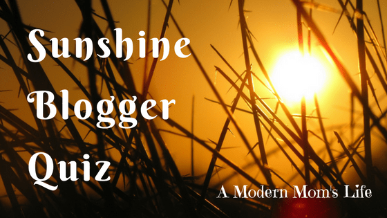 sunshine blogger quiz