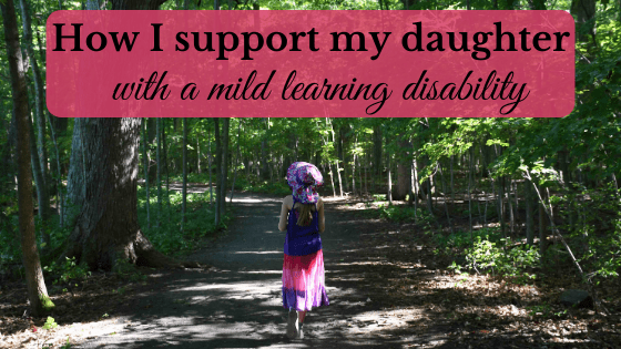 daughter with a mild learning disability