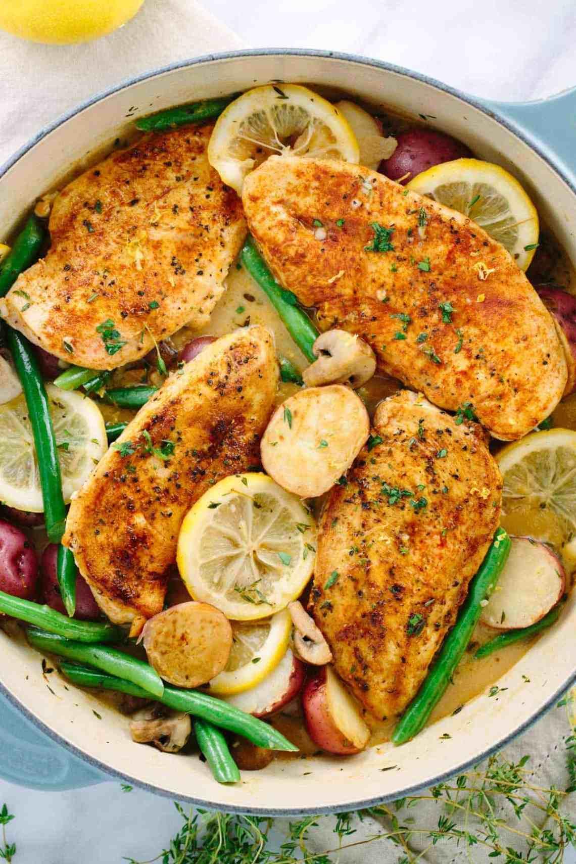 One Pot Lemon Chicken with Vegetables Recipe | Jessica Gavin