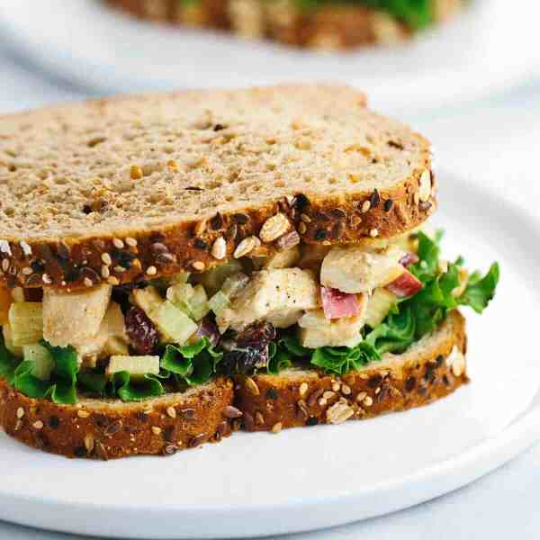 Greek Yogurt Curried Chicken Salad Sandwich Recipe