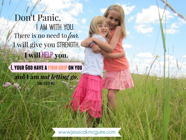 i am with you God has a firm grip sister jkmcguire