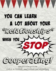 stop cooperating relationships jkmcguire