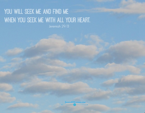 you will find me when you seek me jeremiah jkmcguire