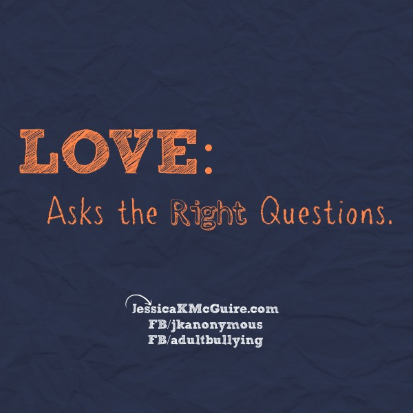 love asks the right questions jkmcguire
