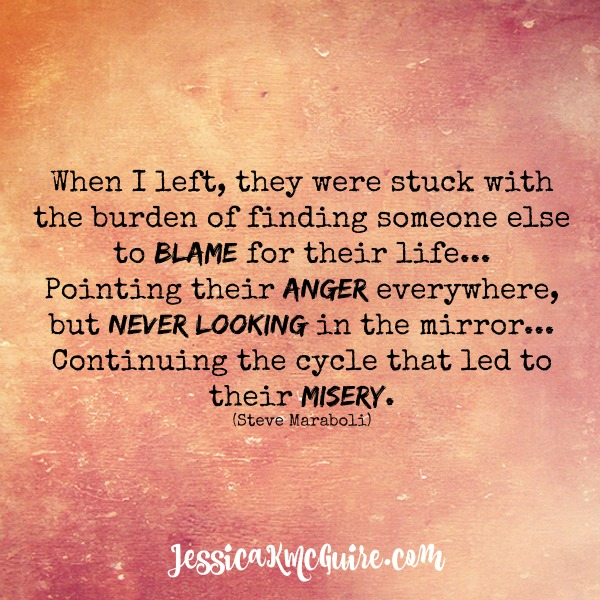 steve maraboli quote misery blame anger cycle