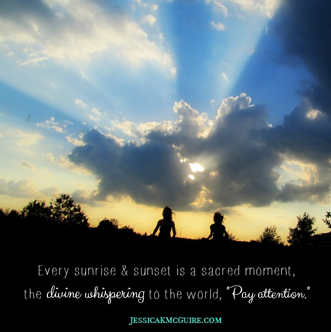 sacred moment divine whispering pay attention