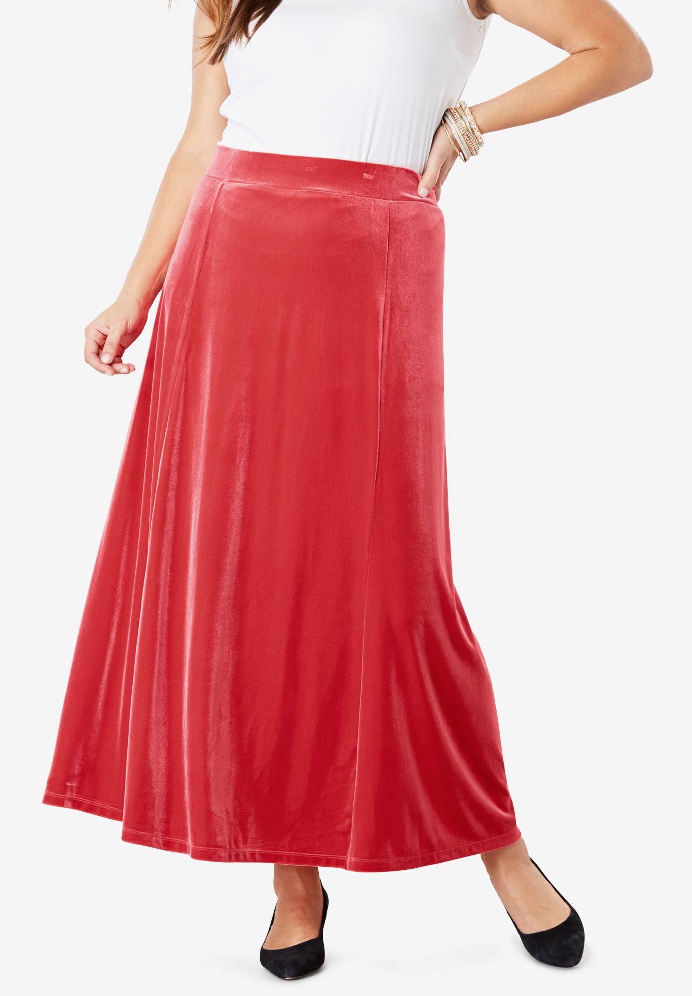 Velour Maxi Skirt