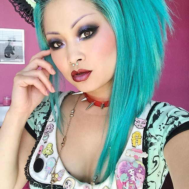 Babe friend wearing painted Cats dress in special Amyhellip