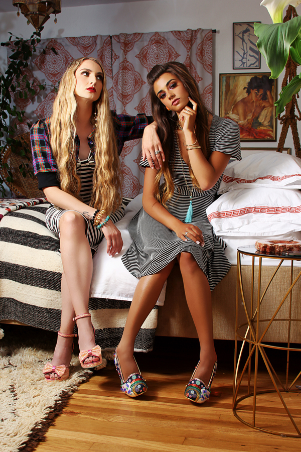 Jessica louise halter dress and wrap dress from dollybird collection