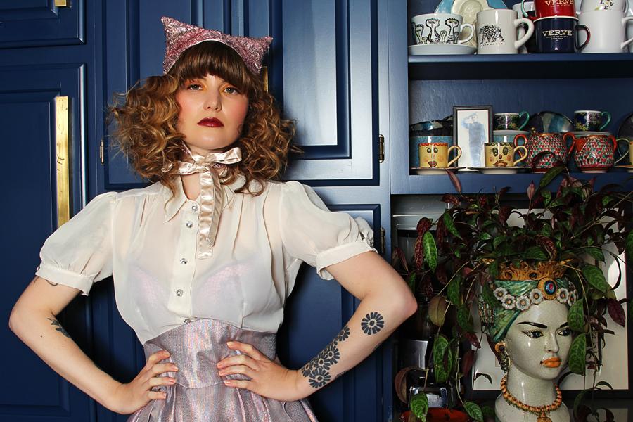 jessica louise vintage circus sequin cat hat