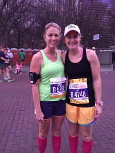 This is Laci and I before the run!
