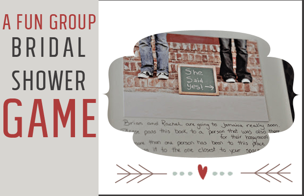 A fun and interactive bridal shower game that is great for a smaller or large group. Helps the guests get to know the bridal couple better too!