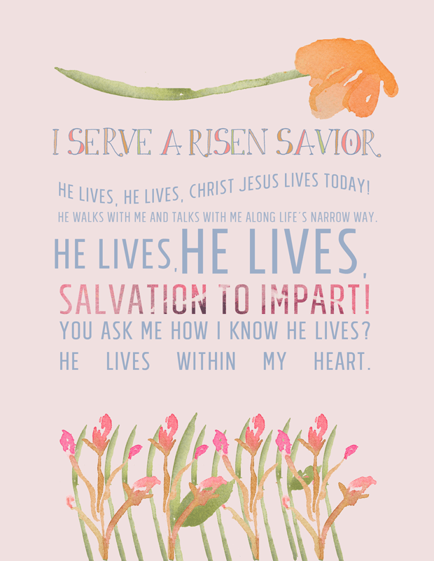 hymn lyrics i-serve-a-risen | he lives he lives Christ Jesus
