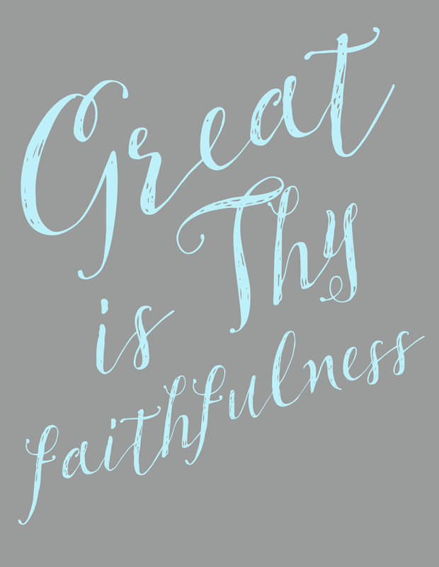 Great is Thy Faithfulness hymn lyrics and printable