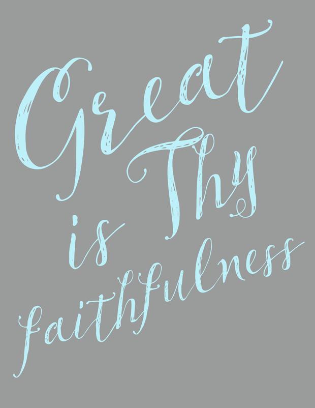 Great is Thy Faithfulness hymn lyrics and printable