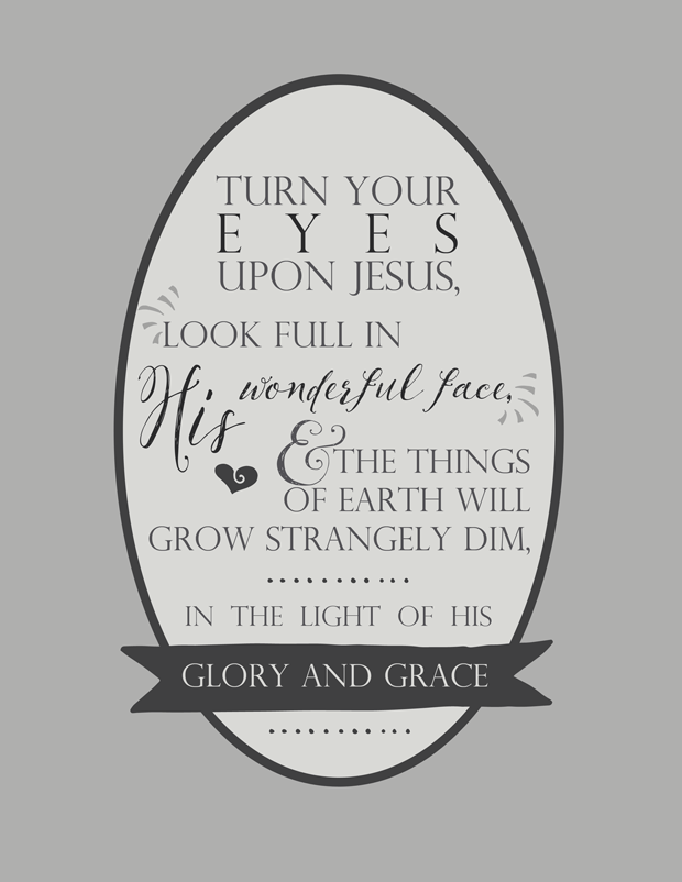 picture about In the Garden Hymn Printable identified as Hymn Lyrics Switch Your Eyes On Jesus -